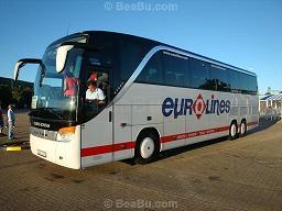 Bus from Paris to Prague